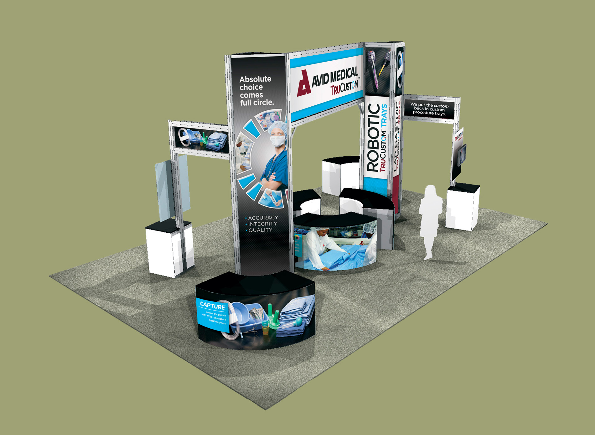 Trade Show Booth Graphics : Avid trade show booth design graphics howell creative group